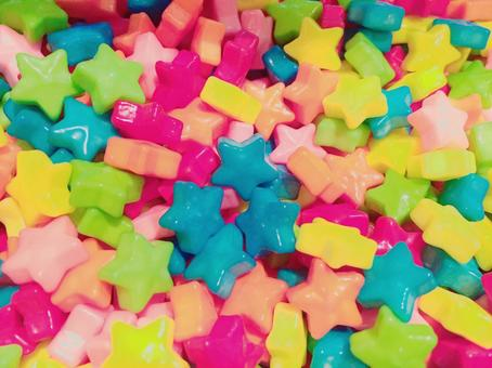 Star shaped colorful candy 2