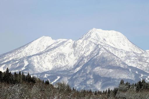 Myoko mountain in winter