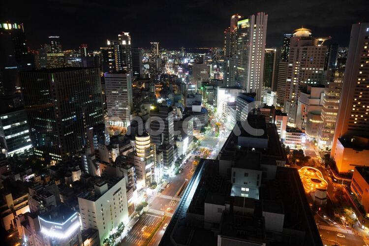 大阪 梅田の夜景の写真
