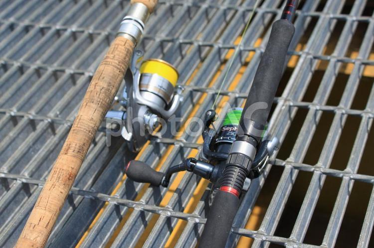 釣り道具・堤防釣りの写真