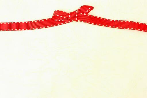 红丝带纹理背景奶油色的丝带绑带3