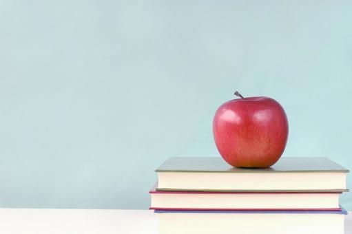 Apples put on books