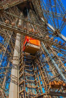 埃菲爾鐵塔纜車(法國巴黎)