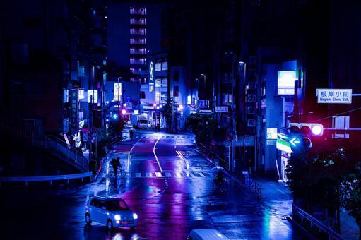 Rainy night delivery