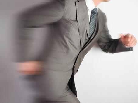 Businessman 【Men running away】