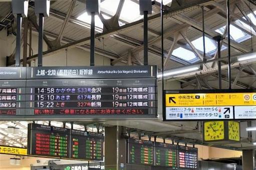 난립하는 역 전광판 우에노 역 중앙 개찰구
