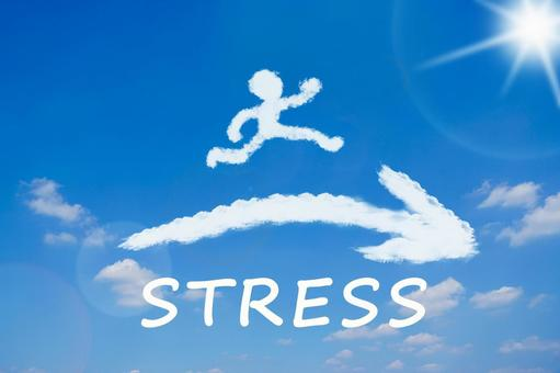 Image of jumping over stress to become stress-free