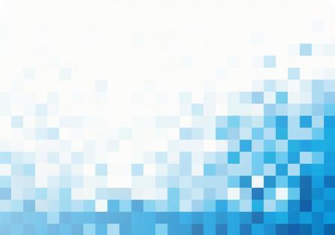Blue square pixel image texture material