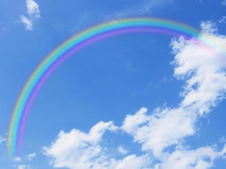 Rainbow and sky