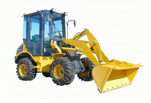 Wheel loader snow removal specification car (with cutout path)