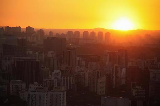 Sunset in Sao Paulo Brazil