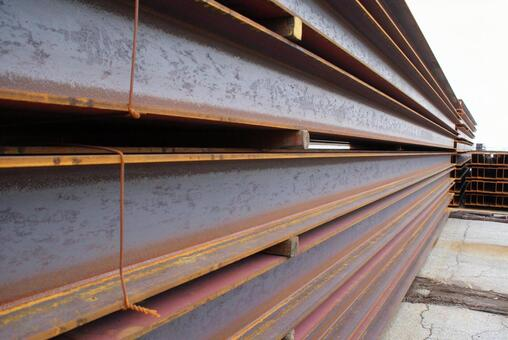 Construction site_H-type iron steel_56