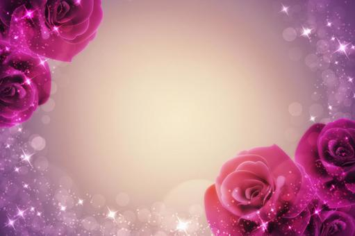 Glittering rose background frame