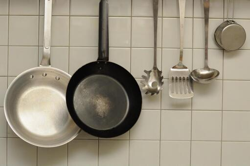 Frying pan in the kitchen
