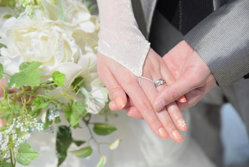 Hand at the time of marriage