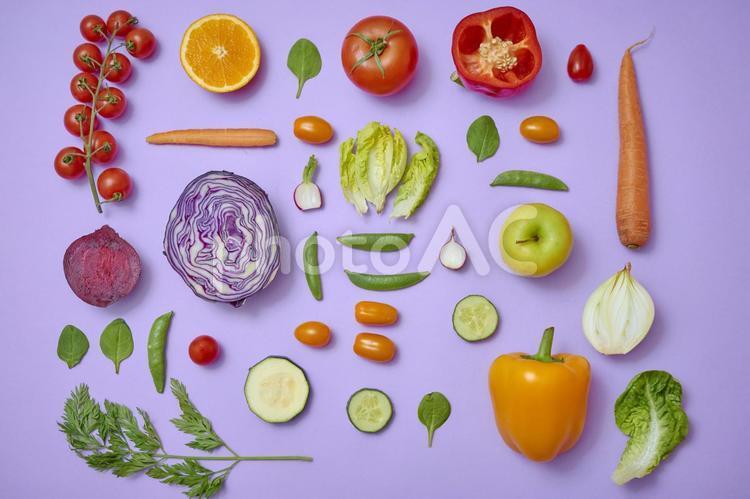 色んな種類の野菜の写真