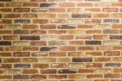 Mixed brick wall background material