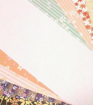 Chiyogami Japanese Pattern Sakura Message Card