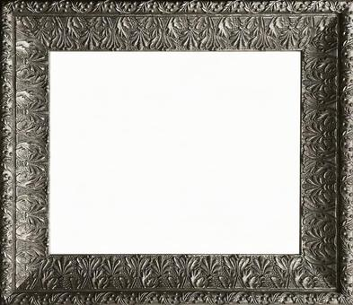 Antique style silver frame 2 sideways (with cutout pass)