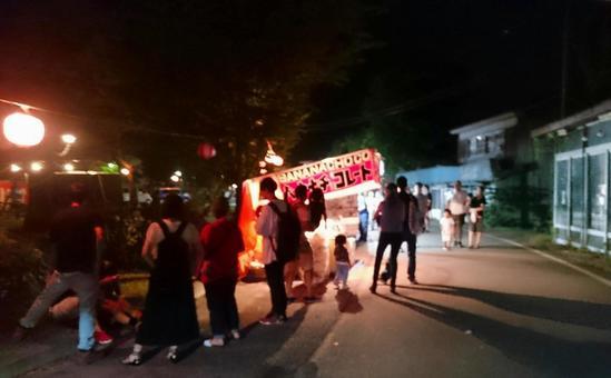 Night shop of summer festival