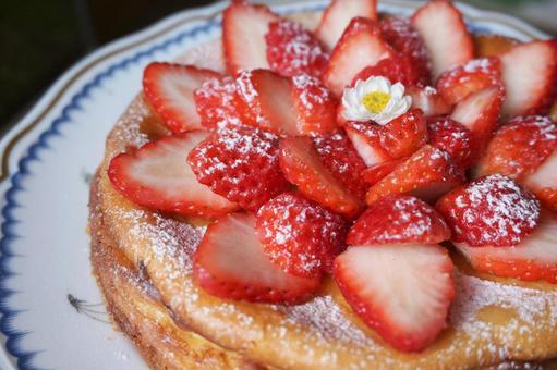 Handmade strawberry cheesecake