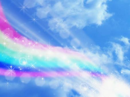 Sky and rainbow background 01