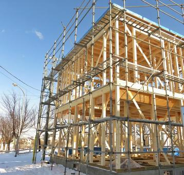 Residential construction site Newly built detached house
