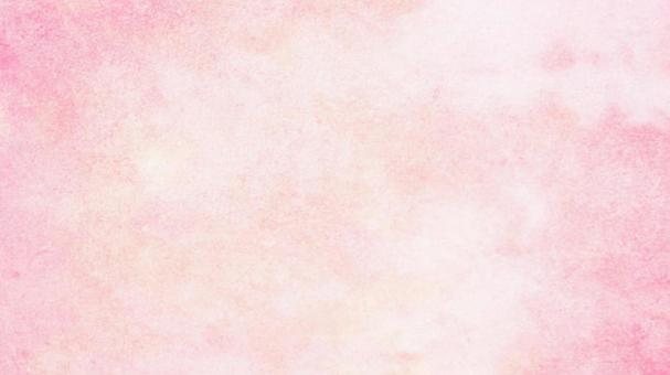 Watercolor-style pink and orange texture Japanese paper-style background material