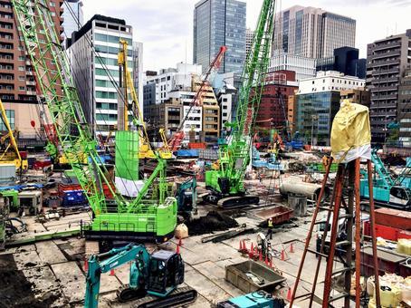 공사장 도시 개발
