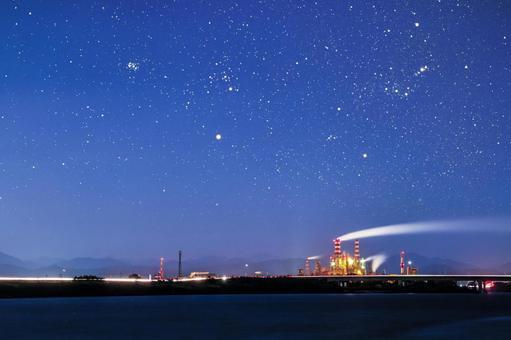 工厂和夜景