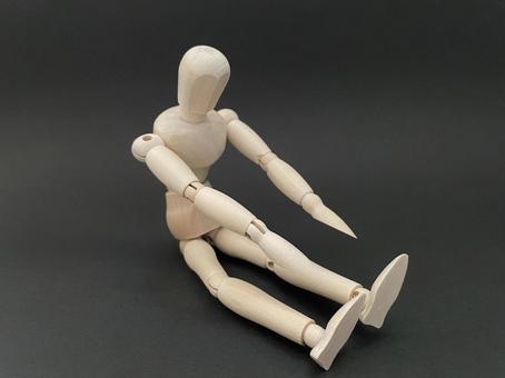 Drawing doll stretch flexible gymnastics