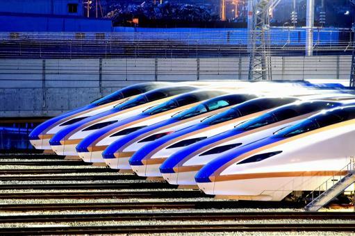 Shinkansen waiting for departure