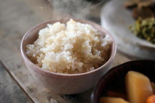 Brown rice rice
