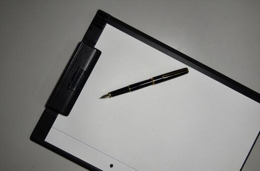 Binder and pen 4