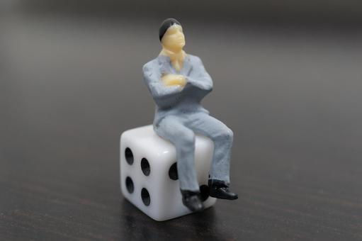 Men who sit on dice