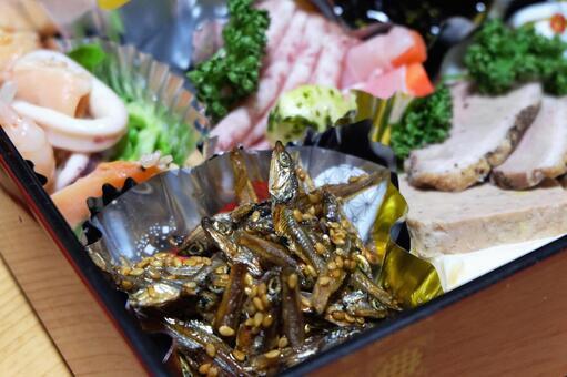 New Year dishes (tazukuri) 01