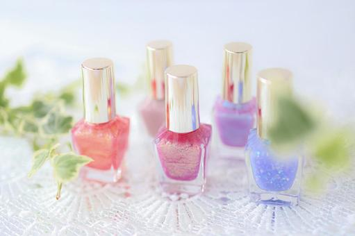Side by side nail polish