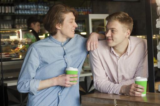 同性戀伴侶5你是在咖啡館