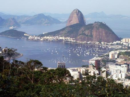 從科爾科瓦多山(Corcovado Hill)看Pon de Asucar