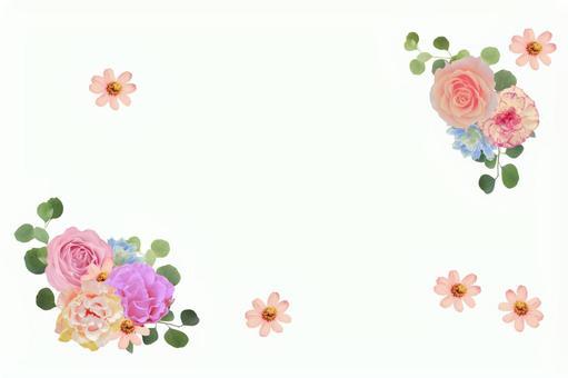 Pink flower frame (PSD)