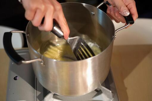 요리 교실의 한 장면