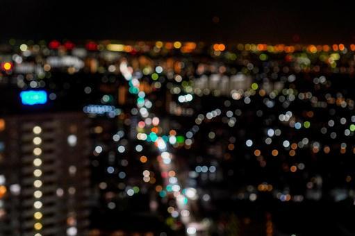 타워 홀 船堀에서의 야경 아라카와와 도쿄 도심의 야경