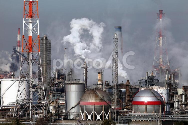 工業地帯の写真