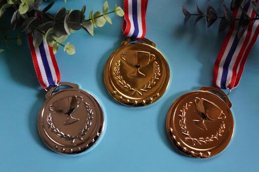 Medal gold / silver / bronze b