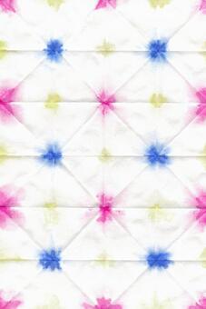 背景水彩日式折疊染料三色3紙