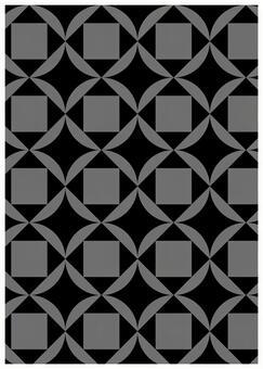 Geometric pattern texture Cloisonne Tie Black