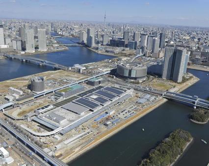 Toyosu market under construction