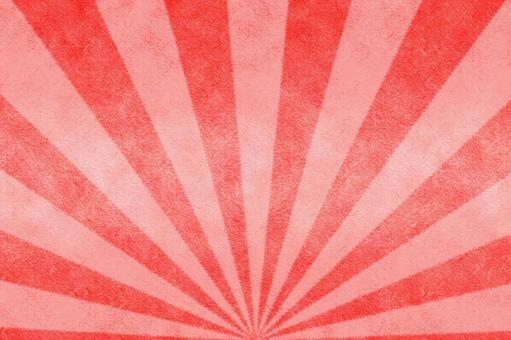 Japanese paper-like radiation on a red background